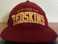 Vintage 90's NFL Washington Football snapback hat by New Era. Fully embroidered,
