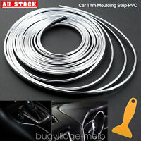 5M/16Ft Car Gap Door Panel Moulding Trim Edge Strip Interior Decoration Silver