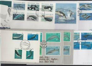 Whales choice Ascension Australia Bahamas Falklands Guernsey NZ Pitcairn StV FDC