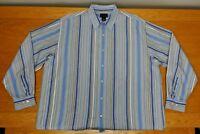 CEZANI 100% Cotton Button Up Business Casual Dress Shirt Size 2XL Men's XXL