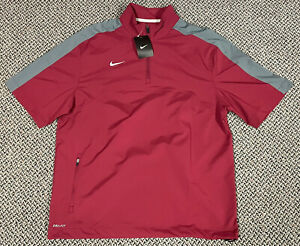 Nike Lightweight Short Sleeve 1/4 Zip Coaches Jacket Windbreaker NWT Size Medium