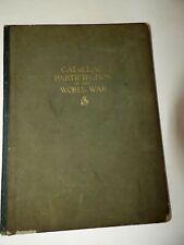 Cadillac Participation In The World War WWI Original Hardback Book 1919 GM