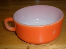 Orange Vintage FIRE KING Anchor Hocking Soup Chili Bowl Cup Mug D Handle 16 oz