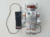 VINTAGE ROBOT TALK-A-TRON OPERATED TOY 11 INCHES 80'S NO TOMY BOTOY BANDAI