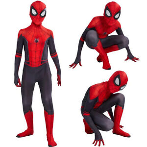 Kids Boys Spider-Man Far From Home Spiderman Cosplay Costume Adult Outfit Hero