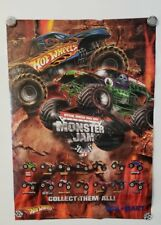 """HOTWHEELS ** MONSTER JAM POSTER, 17"""" X 24"""" **  AWESOME POSTER !!"""