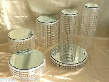 Chandelier style Real Crystal cake stands  full set of 6  tiers