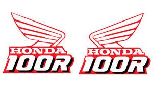 1989 HONDA XR 100 R GAS TANK DECAL SET VINTAGE MOTOCROSS AHRMA