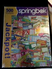 Lottery Tickets Jigsaw Puzzle Springbok JACKPOT! 2010 500 Pieces Foil NEW IN BOX