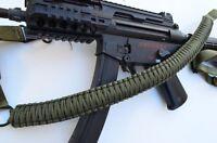 "60"" Tactical 550 Paracord Gun Rifle Bow Shotgun Sling 1 or 2 Point OD GREEN"