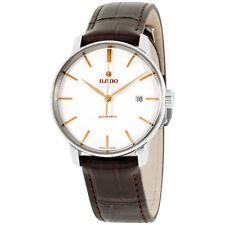 Rado Coupole Silver Dial Leather Strap Men's Watch R22860025