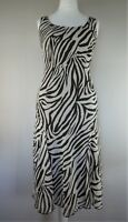 LOVELY PER UNA DRESS Size 12 R Brown Zebra Print Floaty Special Occasion Dress
