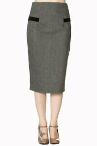 Banned Apparel - Swept Off Her Feet Pencil Skirt