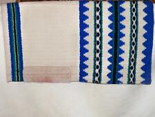 California Custom Hand Loomed Royal Blue Cream Show Saddle Blanket Pad 33 x 36in