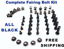 Complete Black Fairing Bolt Kit body screws for Honda CBR 1000 RR 2004 - 2005