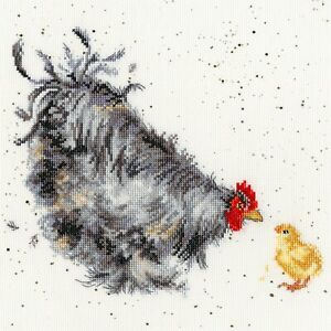 NEW ~ Bothy Threads ~ Counted Cross Stitch Kit ~ Mother Hen ~ Chicken ~ XHD50