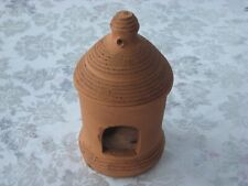 """New listing Beautiful 9 1/2"""" Vintage Clay Bird House w/ 3 Window Openings Super Rare Awesome"""