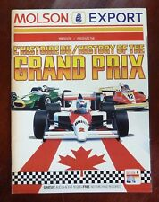 1990 F1 Molson History of the Grand Prix Canada 1967 to 1989 + 1990 Program