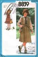 8839 Vintage Simplicity Sewing Pattern Girls Blouse Skirt Lined Vest UNCUT 1970s