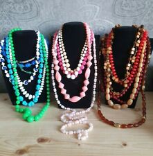JOB LOT OF VINTAGE COSTUME JEWELLERY NECKLACES #1