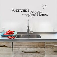 THE KITCHEN IS THE HEART OF THE HOME Wall Quote Vinyl Art Sticker Decal A