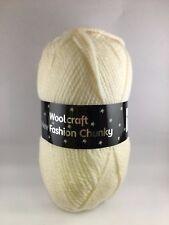 Woolcraft Chunky Knitting Wool New Fashion 100g BALL 100% Acrylic £2.50-MAX POST