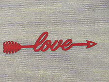 Red Wood LOVE Arrow Wood Wall Sign Home Decor