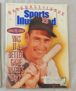 1990 Sports Illustrated Ted Williams Boston Red Sox Baseball Issue