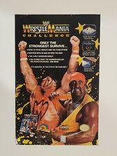 Vintage Retro 1990 & 1992 WWF Wrestlemania video game ads Nintendo Sega Genesis