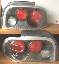 1996-1998 FORD MUSTANG CARBON FIBER LEFT/RIGHT STOP TAIL LIGHTS BRAKE REAR LAMPS