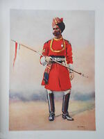 Antiquarian Indian Army Print (1911) Governor's Bodyguard, Madras - Major Lovett