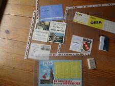 Lot calendrier publicitaire CHATEAUROUX, La Rochelle - Années 60