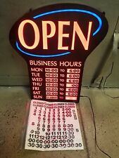 """Newon Led Lighted Business""""Open"""" Sign 3686, Business Hours, (Free ship)"""