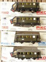 Piko H0 AC 3-L. 4-teiliges Set Windbergwagen der DRG Epoche 2, Innenbeleuchtung