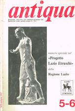 ANTIQUA ANNO XII N.5-6. PUBBLICAZIONE BIMESTRALE DELL'ARCHEOCLUB D'ITALIA PER LA