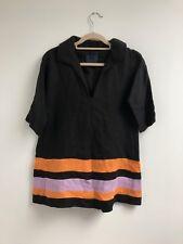 NEW PPQ of MAYFAIR SHIRT DRESS SILK BLACK TUNIC SILK UK:6/8/10/12 RRP£600 UNISEX