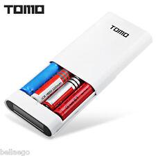TOMO M4 4 x 18650 Li-ion Battery DIY Smart Power Charger LCD Display- WHITE