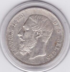 Belgium  1870    5  Franc  Large  Silver  90%   Coin