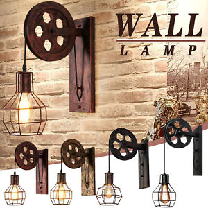 Retro Pulley Industrial Style Creative Personality Decoration Corridor Wall Lamp