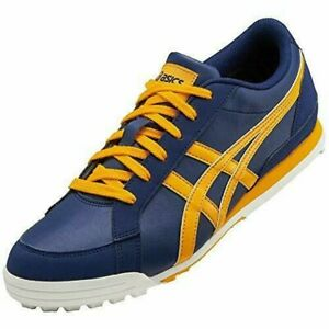 USED USED ASICS Golf Shoes GEL PRESHOT CLASSIC 3 Wide Navy Yellow US11.5 29cm