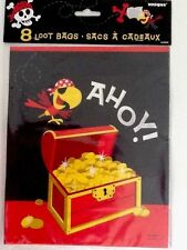 8 x Yo Ho Ahoy Pirate Party Loot Bags / Boys Pirate Party Supplies birthday