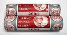 New listing 2006 P & D Us Mint Wrapped Jefferson Nickel Rolls☆☆Nice Details☆☆Uncirculated ☆☆