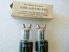 Jan CNU 7193 National Union May 1944  Pair New Old Stock  Valve Tube
