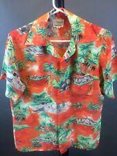 "Vintage 1950's ""Cascade"" Men's Hawaiian Rayon Shirt"