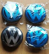 VW Alloy Wheel Centre Caps x4 65 mm GOLF MK6 MK5