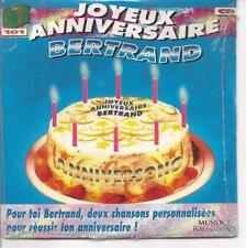 CD SINGLE 4 TITRES--JOYEUX ANNIVERSAIRE BERTRAND--NEUF