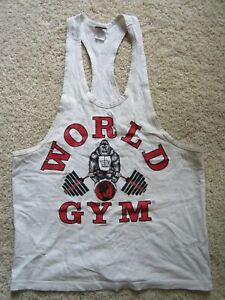 Vintage World Gym Tank Top Muscle Shirt 1996 Sz Med