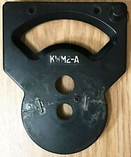 COLLINS RADIO KWM2-A FRONT DIAL ESCUTCHEON PLATE BEEN REPAIRED LOOK CAREFULLY