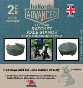 2x Anti-Slip Rubber Pads for Halfords Advanced Ratchet Axle Stands - 2 & 3 Tonne