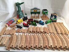 Thomas Wooden Train Lot Cranky Sodor Signal House Skarloey 77 Pieces